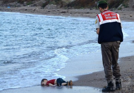 難民の写真